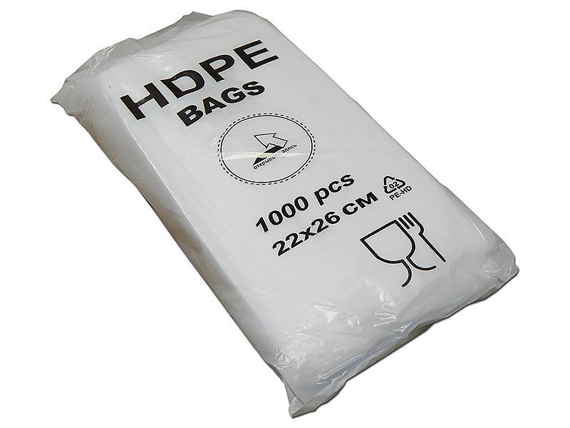 Пакеты фасовочные Пакет фасовочный ПНД (евроблок) 18х27, 6мкм/1000/, упак