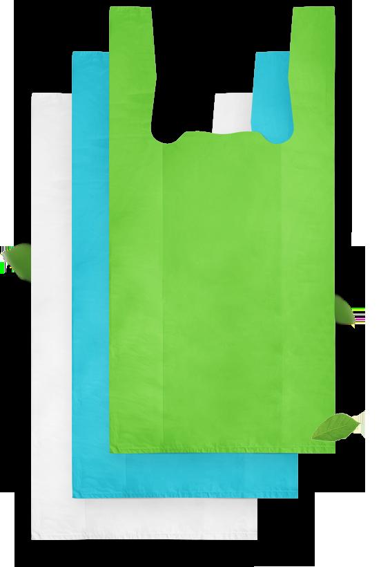 Пакеты фасовочные Пакет майка ПНД 28+12х50 см, 12 мкм (цветные)/100/ , упак