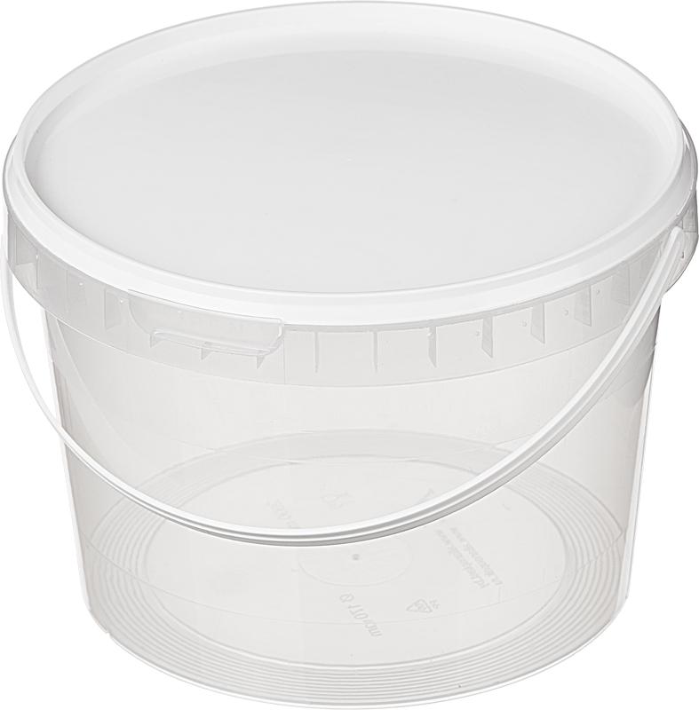Пластиковые вёдра Ведро прозрачное. 3,25 л D=195 /20/, шт