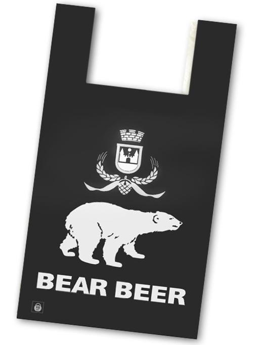 Пакеты фасовочные Пакет майка ПНД 36+16х55 см, 14 мкм (Медведь)/100/, упак