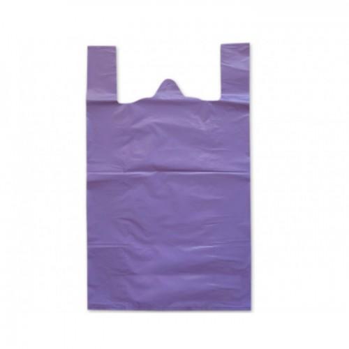 Пакеты фасовочные Пакет майка ПНД 37х45 см (Фиолетовые) /100/, упак