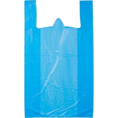 Пакеты фасовочные Пакет майка ПНД 37х45 см (Голубые) /100/, упак