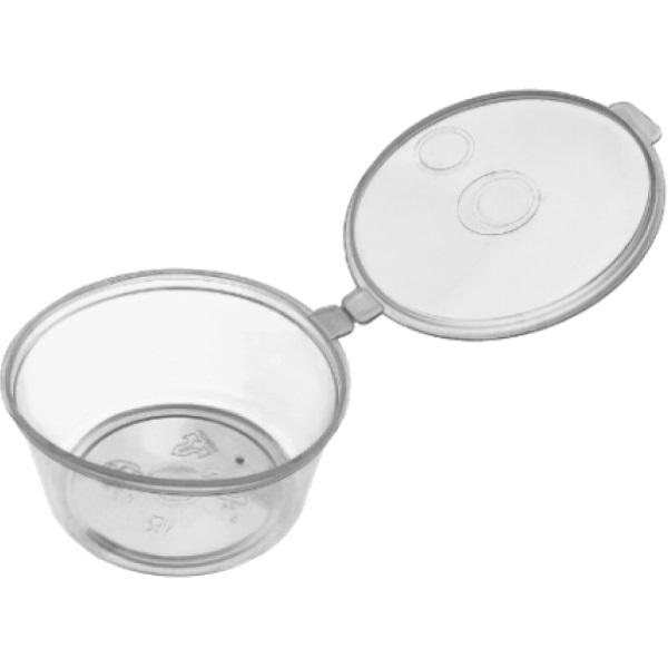 Одноразовая посуда Соусник с крышкой 30 мл, D=50 мм /80/, шт