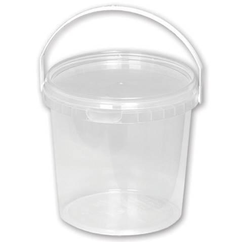 Пластиковые вёдра Ведро прозрачное. 1,0 л D=120 /50/, шт