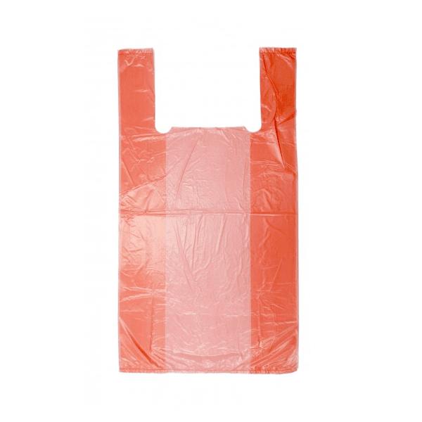 Пакеты фасовочные Пакет майка ПНД 37х45 см (Красные) /100/, упак